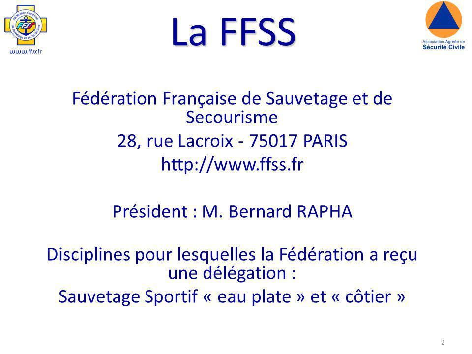 La FFSS Fédération Française de Sauvetage et de Secourisme