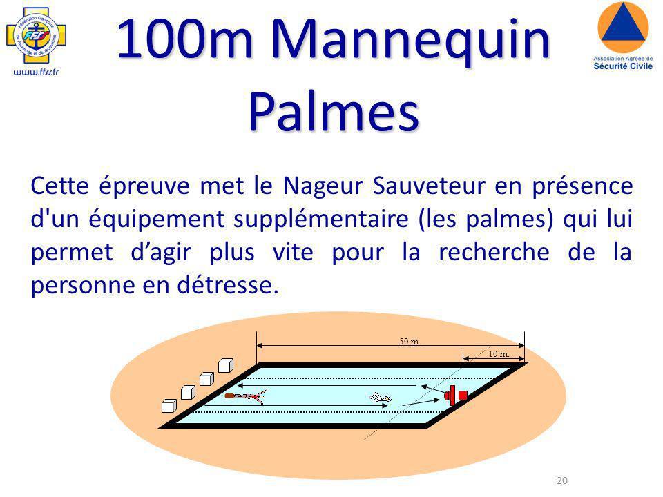 100m Mannequin Palmes