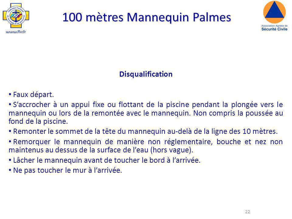 100 mètres Mannequin Palmes