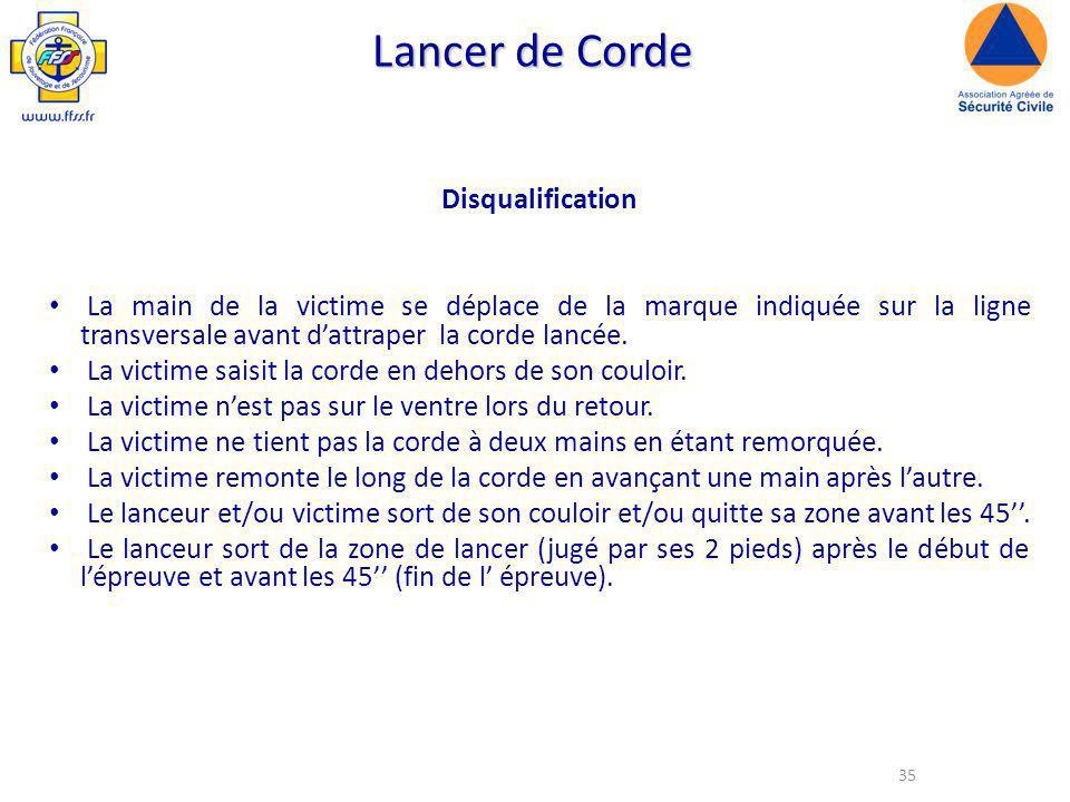 Lancer de Corde Disqualification