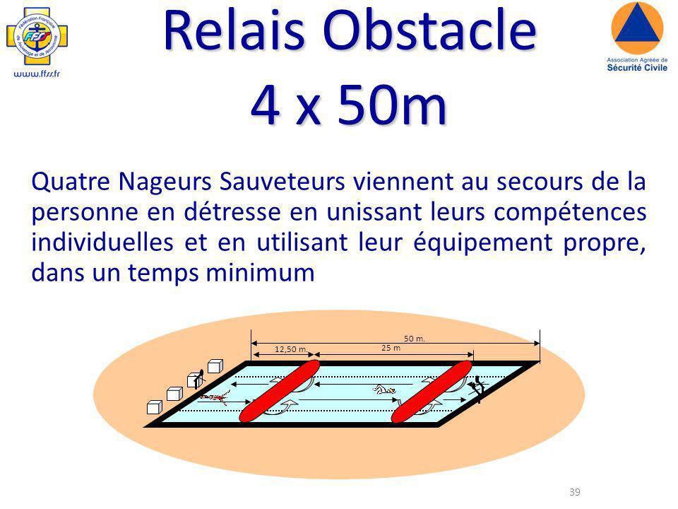Relais Obstacle 4 x 50m
