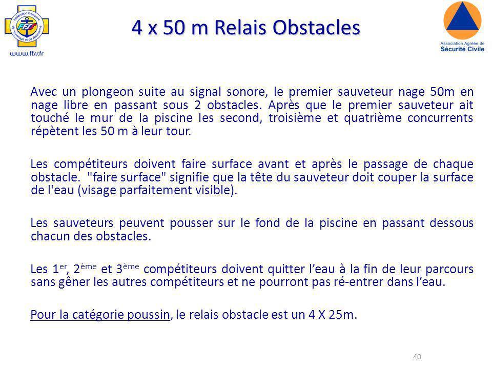 4 x 50 m Relais Obstacles