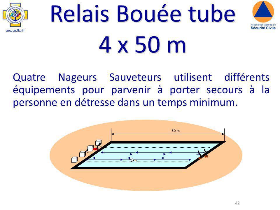 Relais Bouée tube 4 x 50 m.