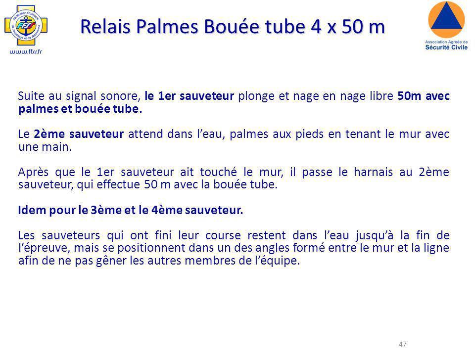 Relais Palmes Bouée tube 4 x 50 m