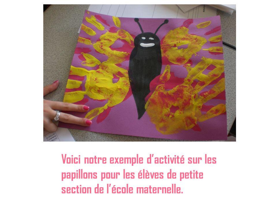 Voici notre exemple d'activité sur les papillons pour les élèves de petite section de l'école maternelle.