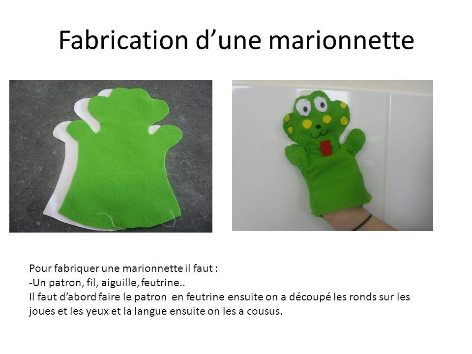 Fabrication d'une marionnette