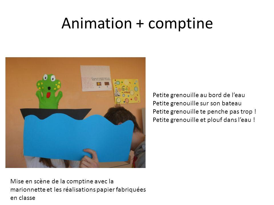 Animation + comptine Petite grenouille au bord de l'eau