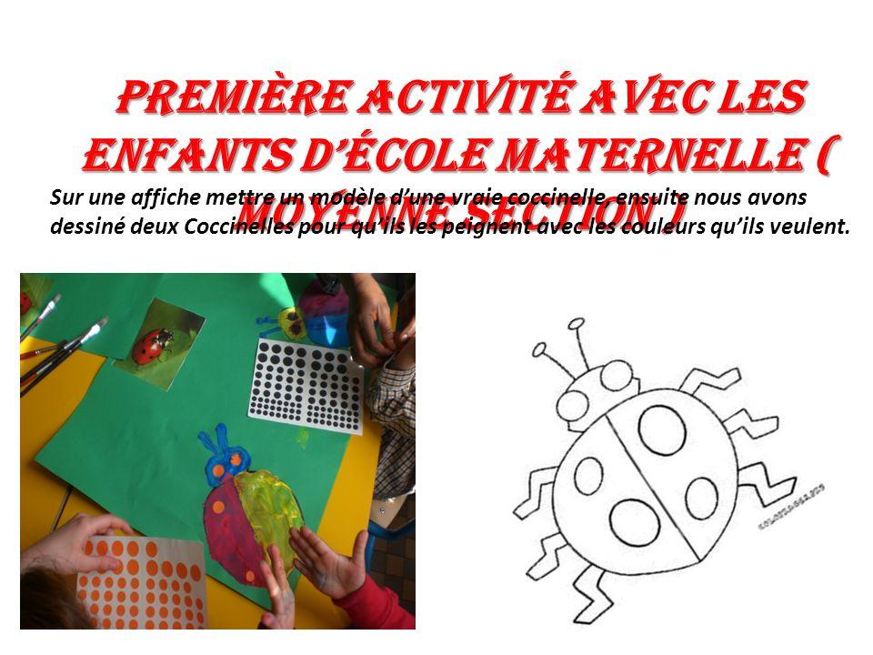 Première activité avec les enfants d'école maternelle ( Moyenne section )