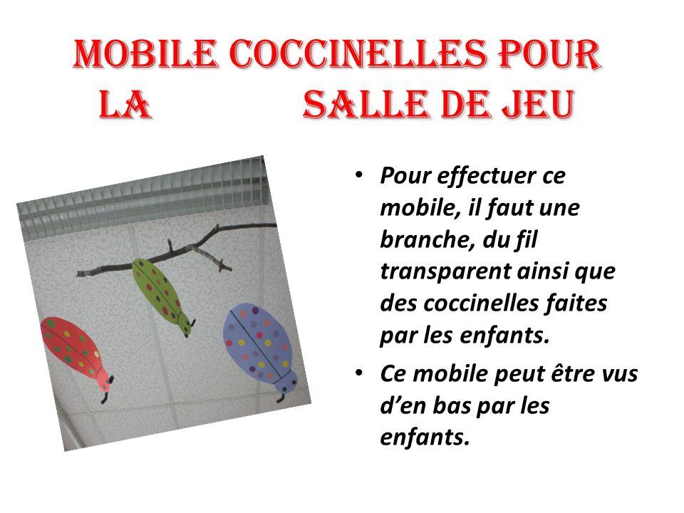 Mobile COCCINELLES pour la salle de jeu