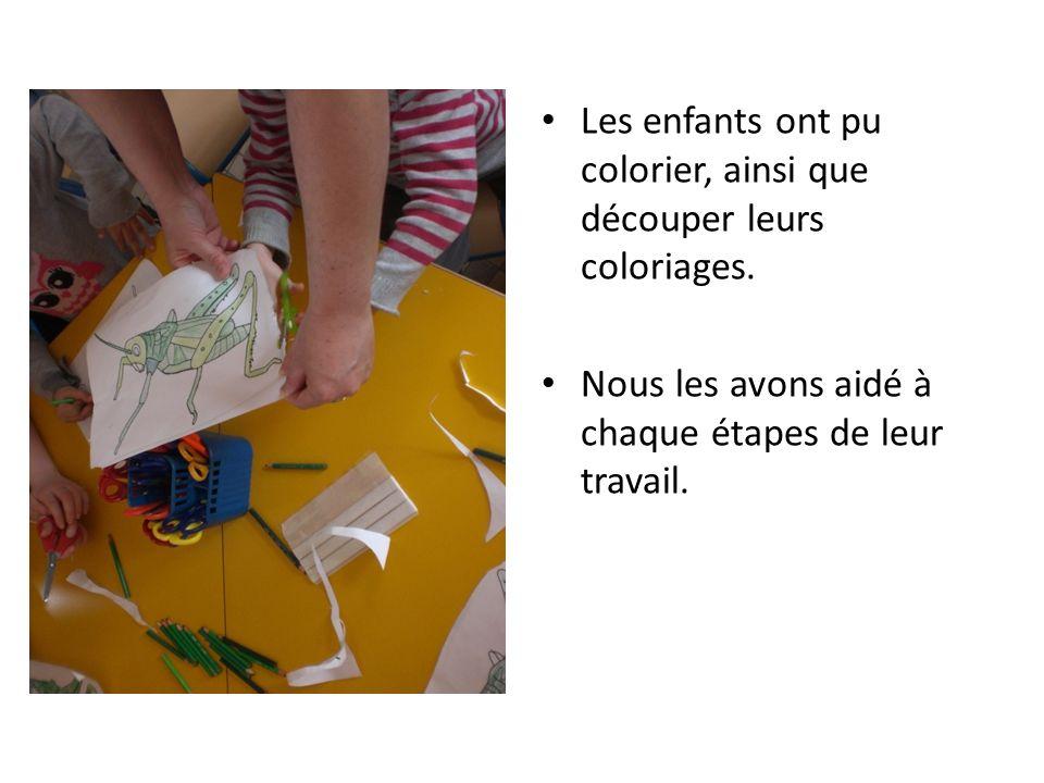 Les enfants ont pu colorier, ainsi que découper leurs coloriages.
