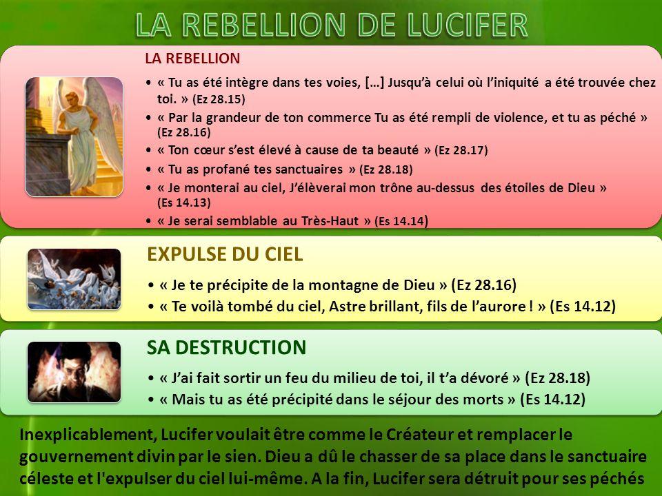 LA REBELLION DE LUCIFER
