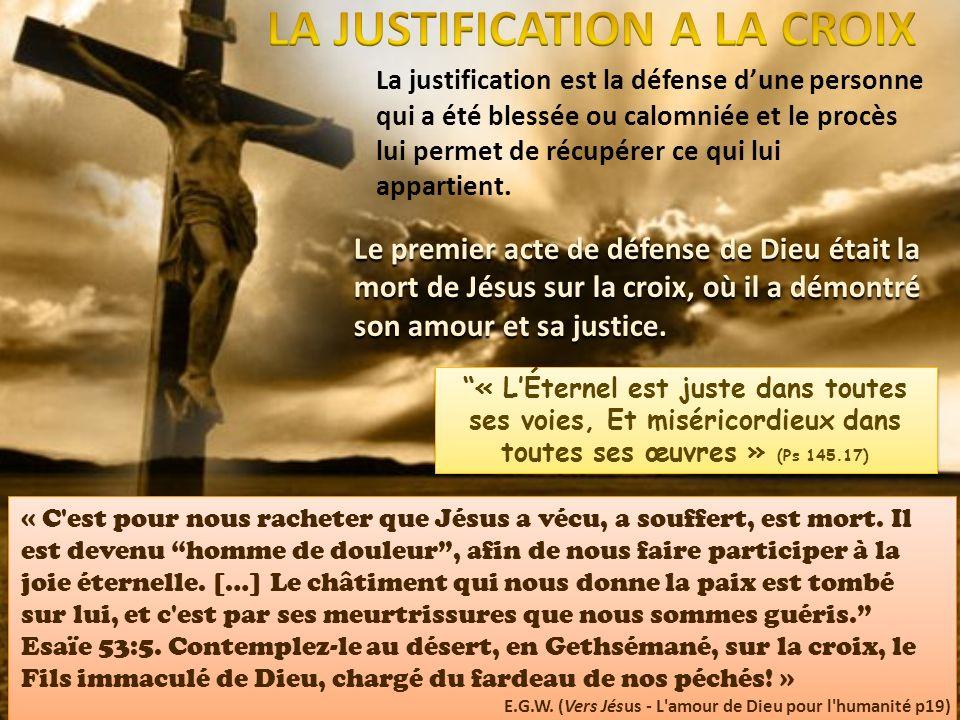 LA JUSTIFICATION A LA CROIX