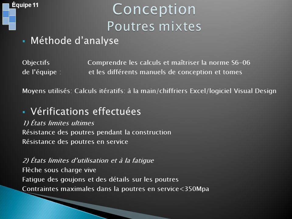 Conception Poutres mixtes