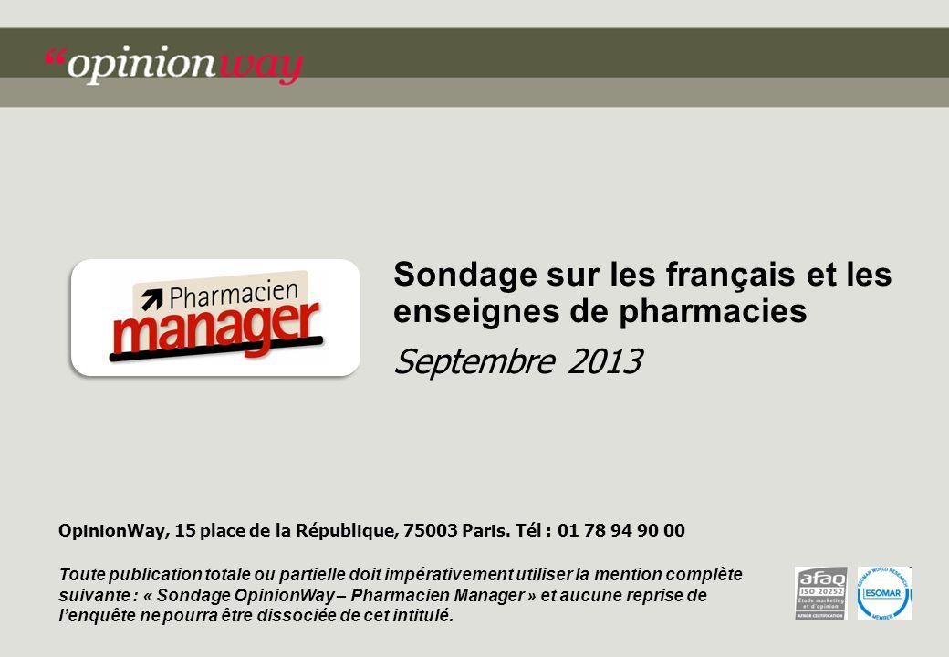 Sondage sur les français et les enseignes de pharmacies