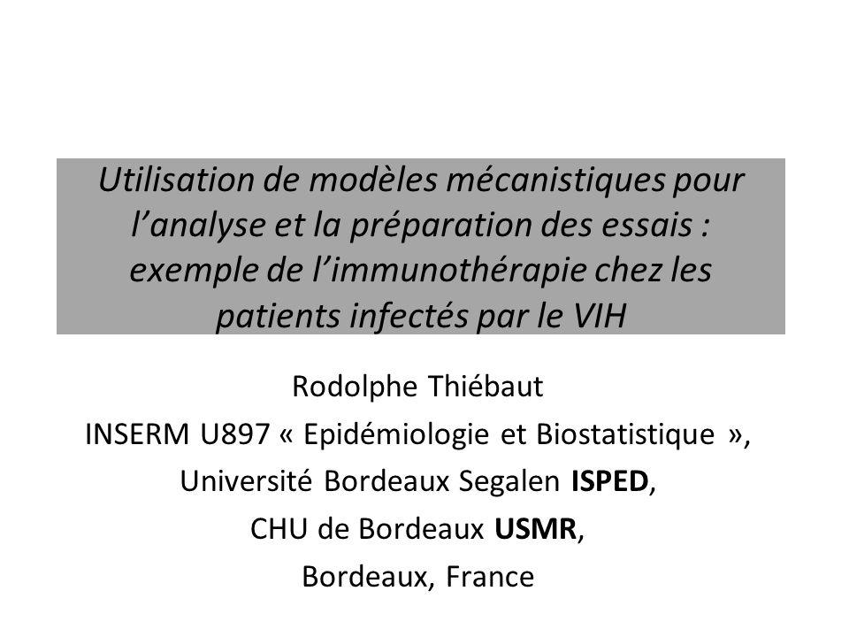 Utilisation de modèles mécanistiques pour l'analyse et la préparation des essais : exemple de l'immunothérapie chez les patients infectés par le VIH