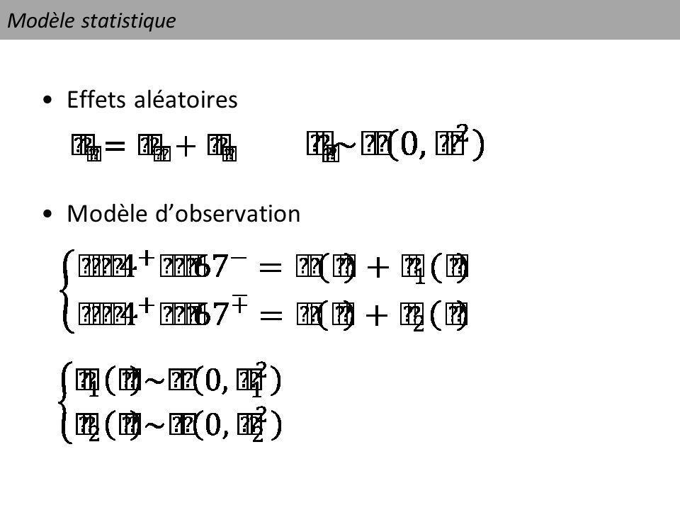 Modèle statistique Effets aléatoires Modèle d'observation