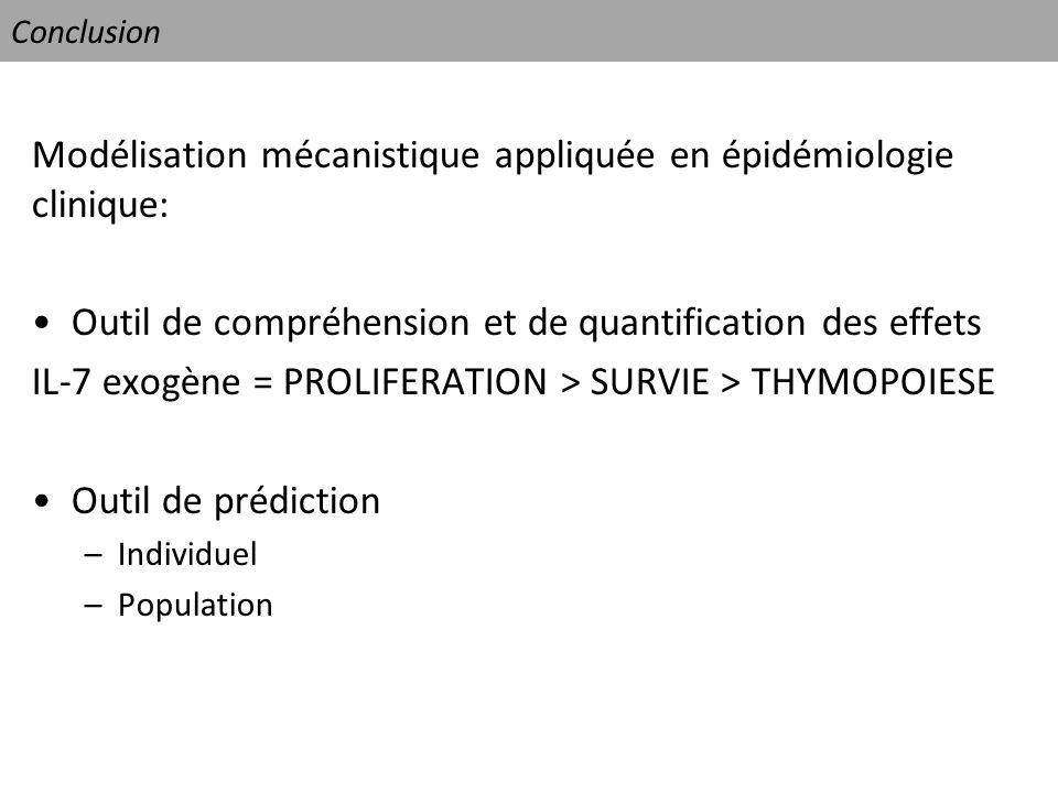 Modélisation mécanistique appliquée en épidémiologie clinique: