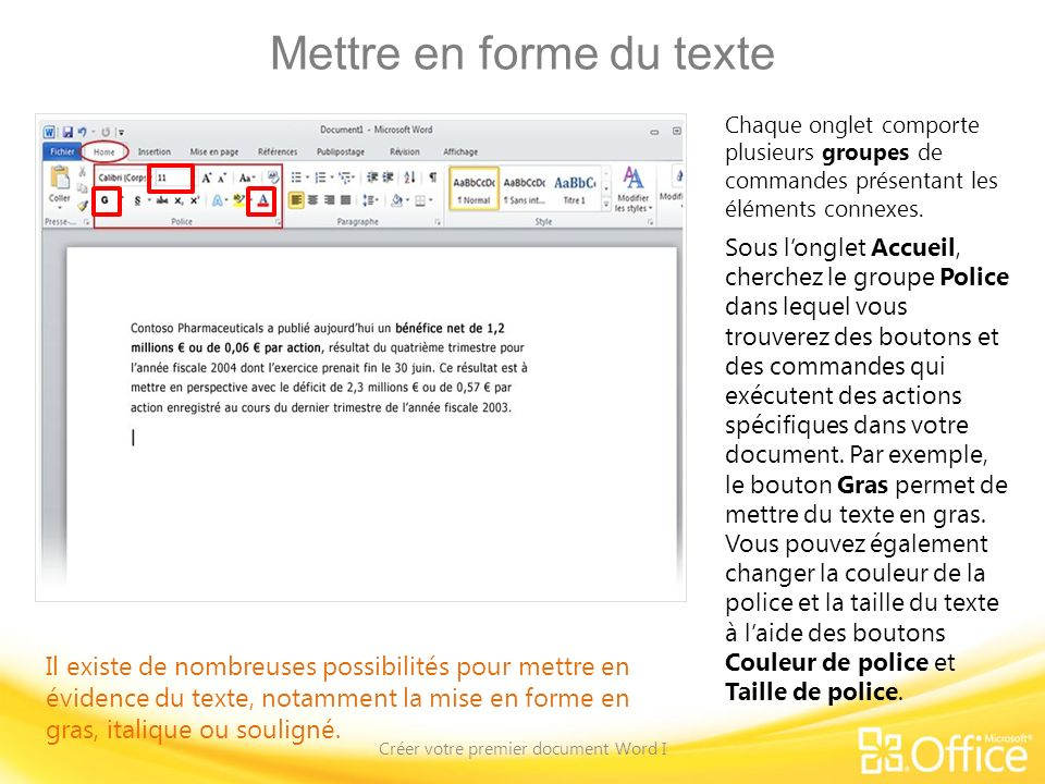 cr u00e9er votre premier document word i