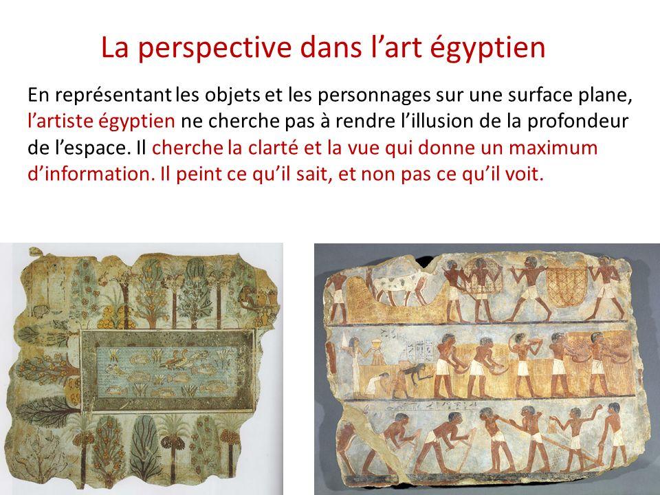 La perspective dans l'art égyptien