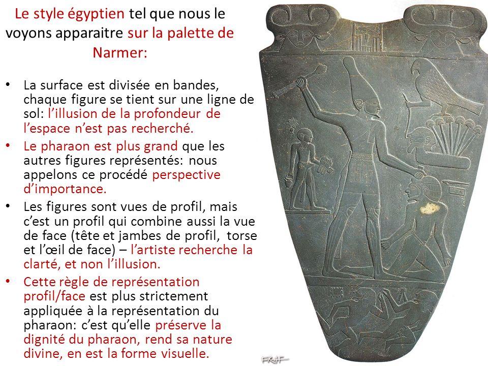Le style égyptien tel que nous le voyons apparaitre sur la palette de Narmer: