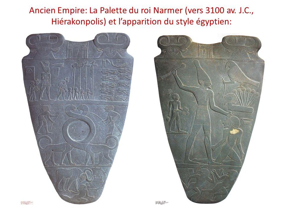 Ancien Empire: La Palette du roi Narmer (vers 3100 av. J. C