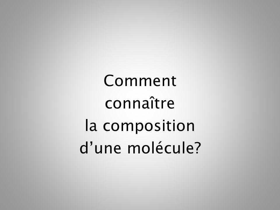 Comment connaître la composition d'une molécule