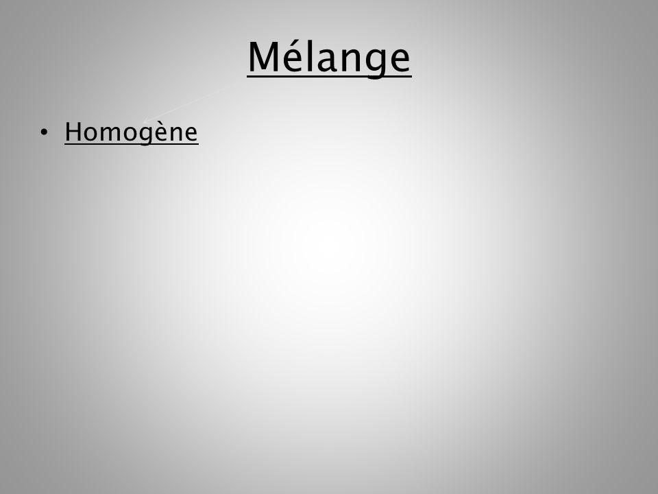 Mélange Homogène