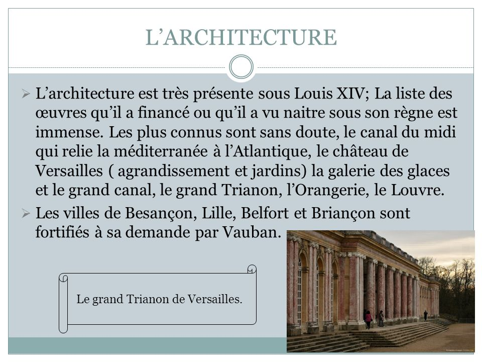 Le grand Trianon de Versailles.