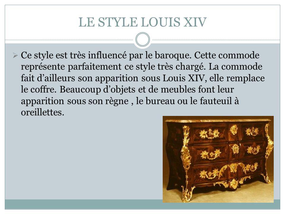 LE STYLE LOUIS XIV