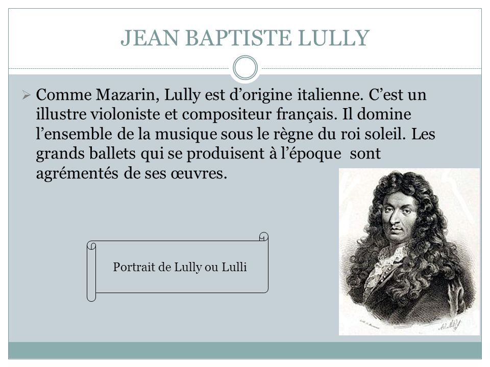 Portrait de Lully ou Lulli