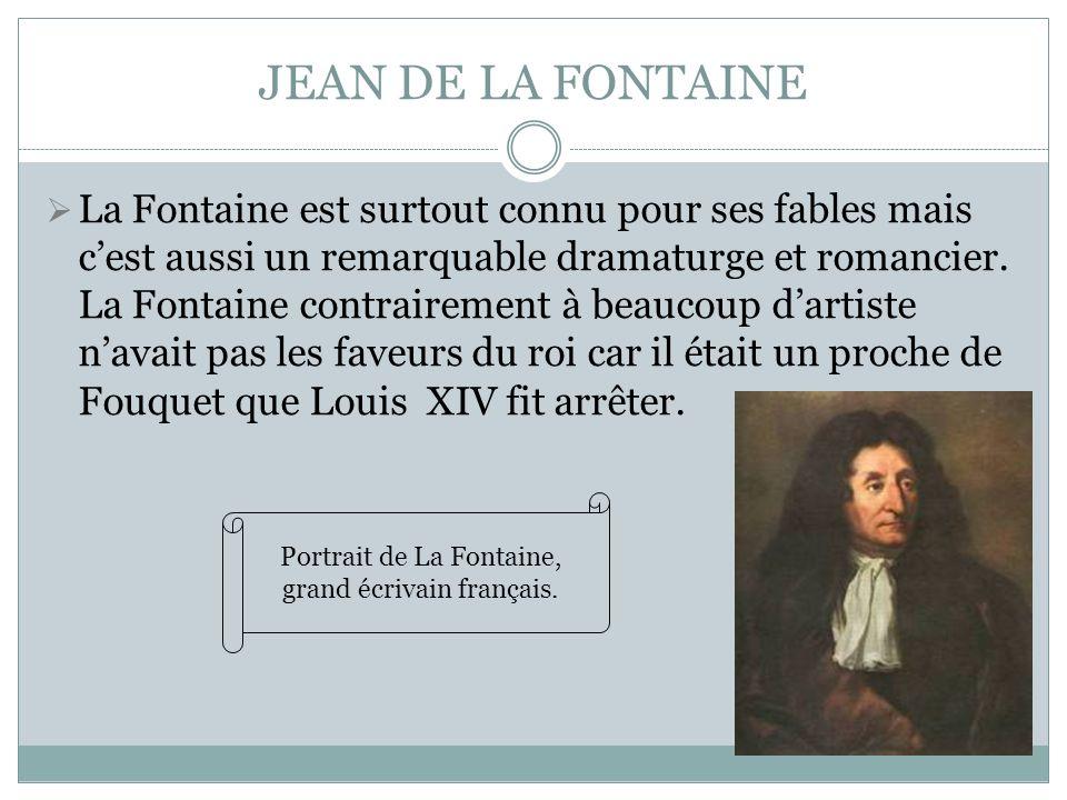 Portrait de La Fontaine, grand écrivain français.