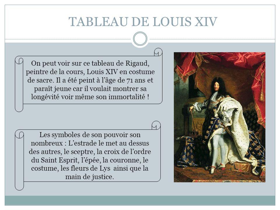 TABLEAU DE LOUIS XIV