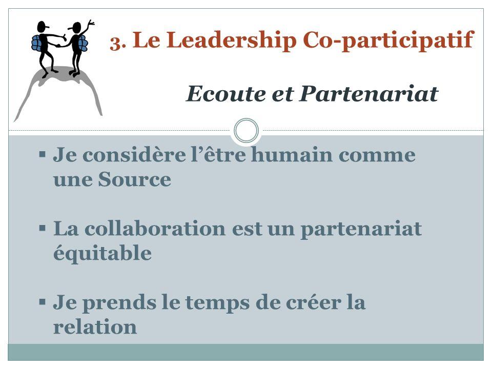 3. Le Leadership Co-participatif Ecoute et Partenariat