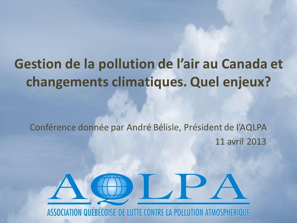 Conférence donnée par André Bélisle, Président de l'AQLPA