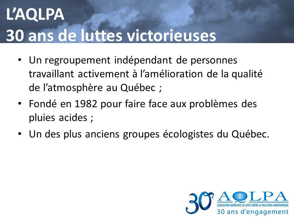L'AQLPA 30 ans de luttes victorieuses