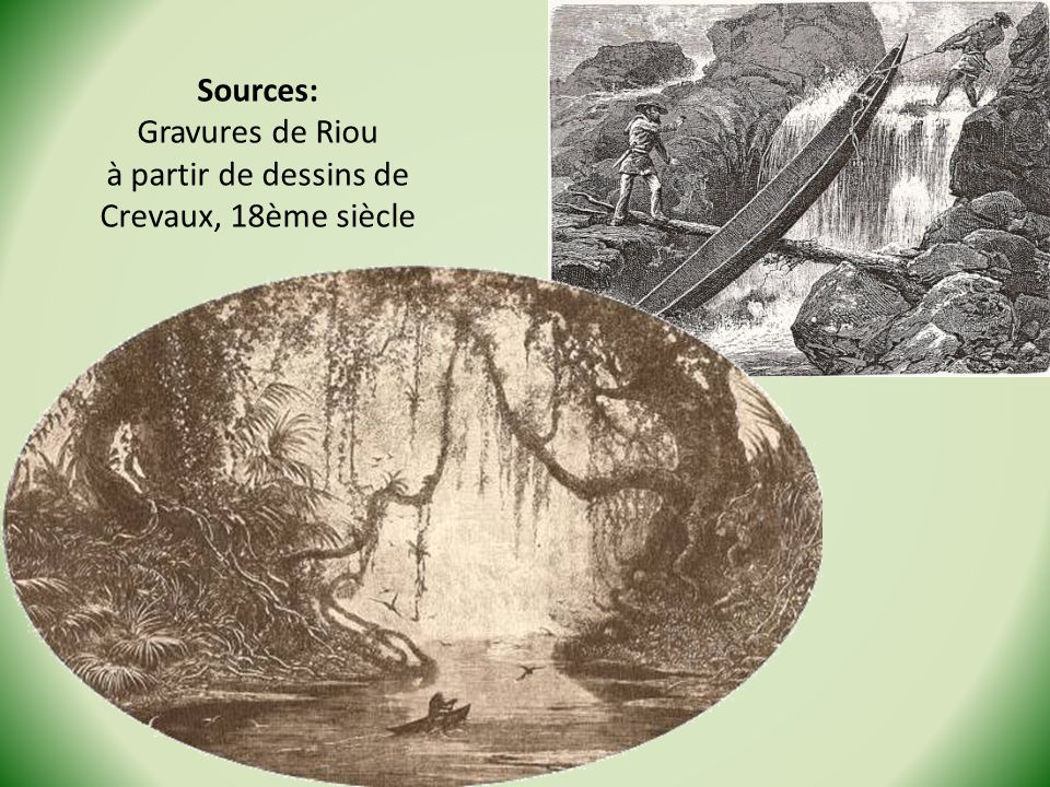 Sources: Gravures de Riou à partir de dessins de Crevaux, 18ème siècle