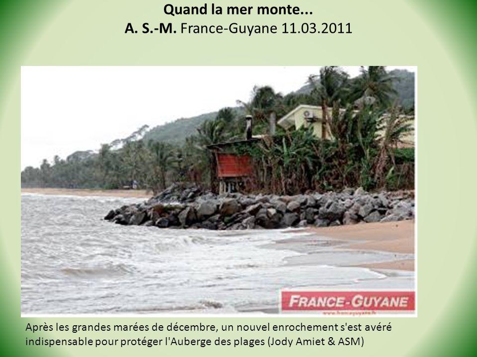 Quand la mer monte... A. S.-M. France-Guyane 11.03.2011