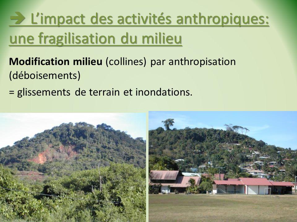  L'impact des activités anthropiques: une fragilisation du milieu