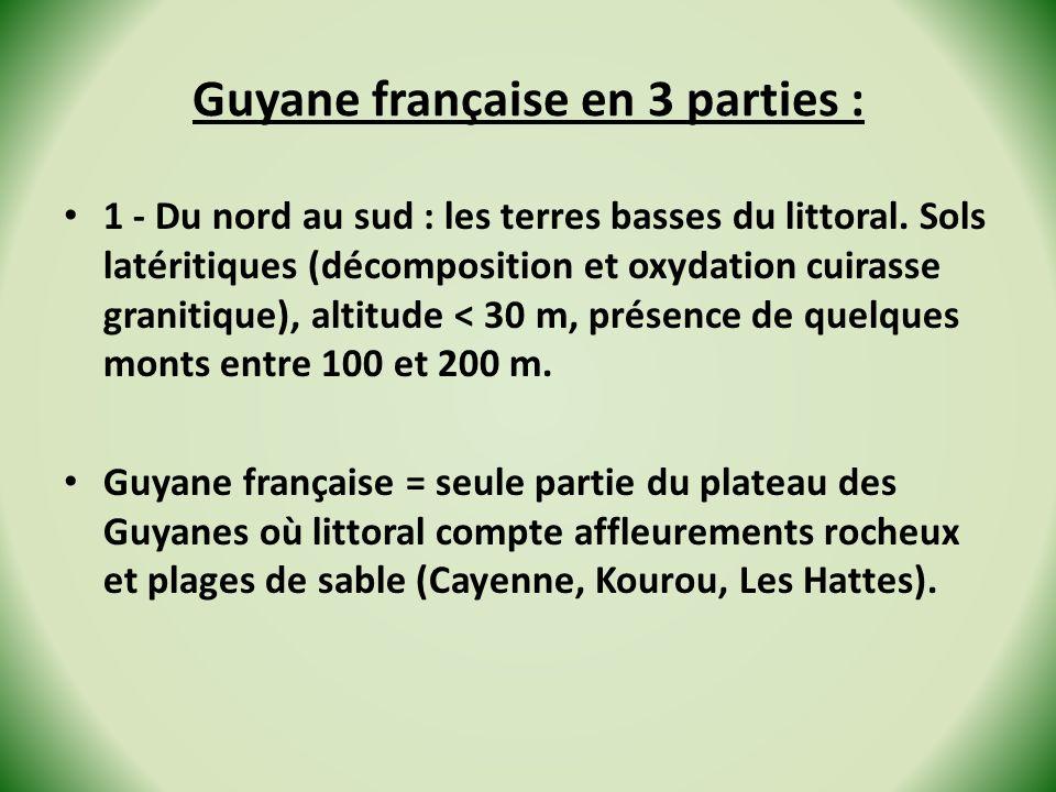 Guyane française en 3 parties :