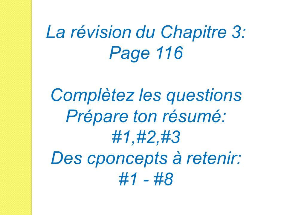 La révision du Chapitre 3: Page 116