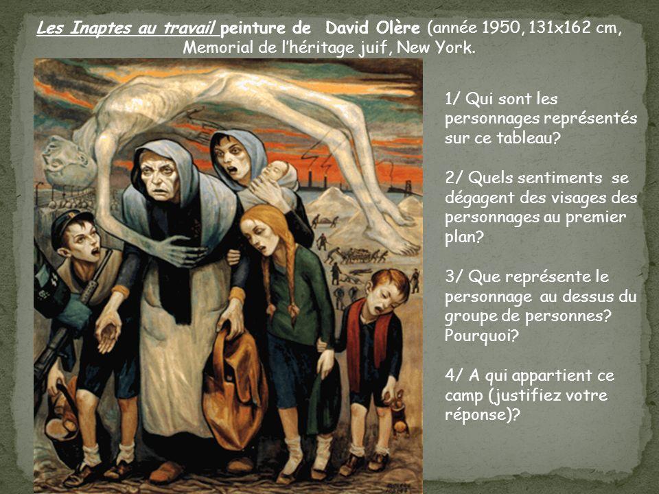 Les Inaptes au travail peinture de David Olère (année 1950, 131x162 cm, Memorial de l'héritage juif, New York.