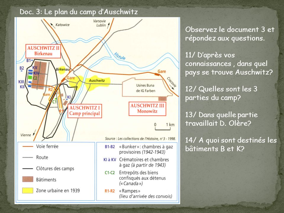 Doc. 3: Le plan du camp d'Auschwitz