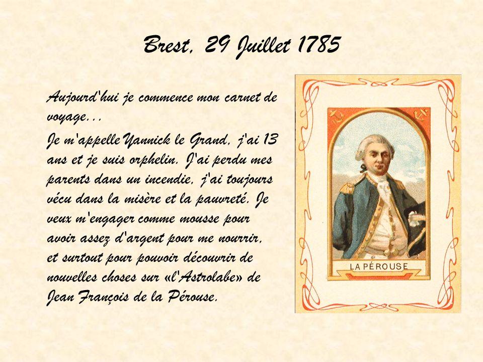 Brest, 29 Juillet 1785