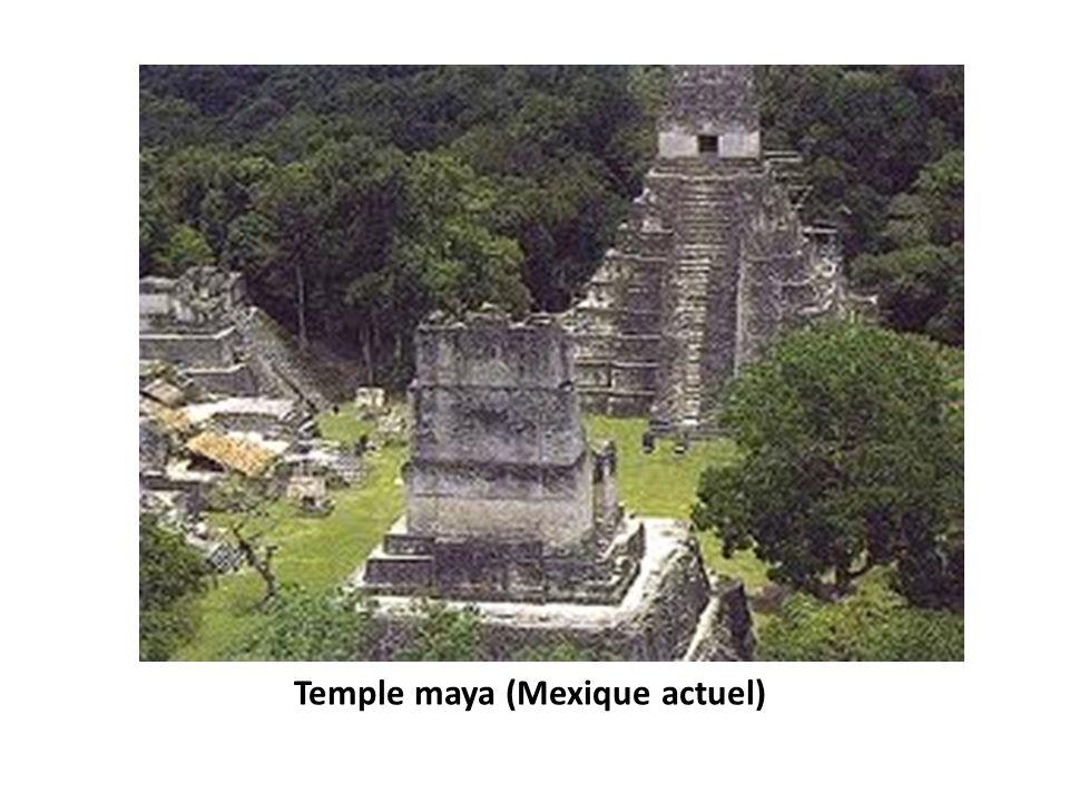 Temple maya (Mexique actuel)
