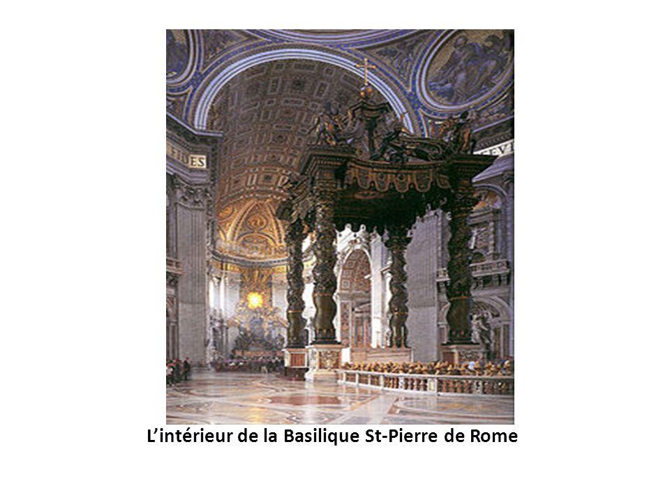 L'intérieur de la Basilique St-Pierre de Rome