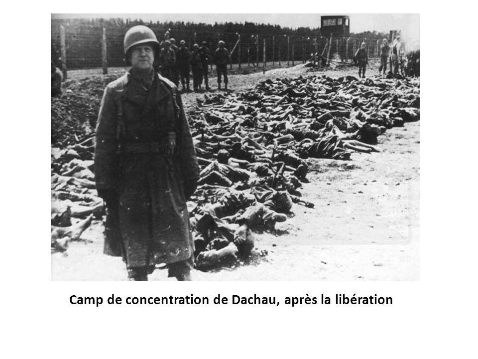 Camp de concentration de Dachau, après la libération
