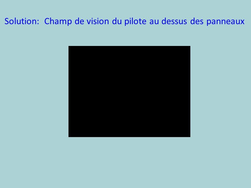 Solution: Champ de vision du pilote au dessus des panneaux