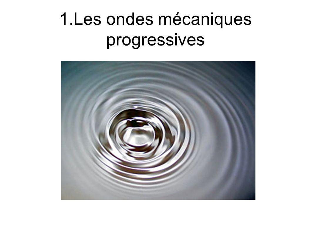 1.Les ondes mécaniques progressives
