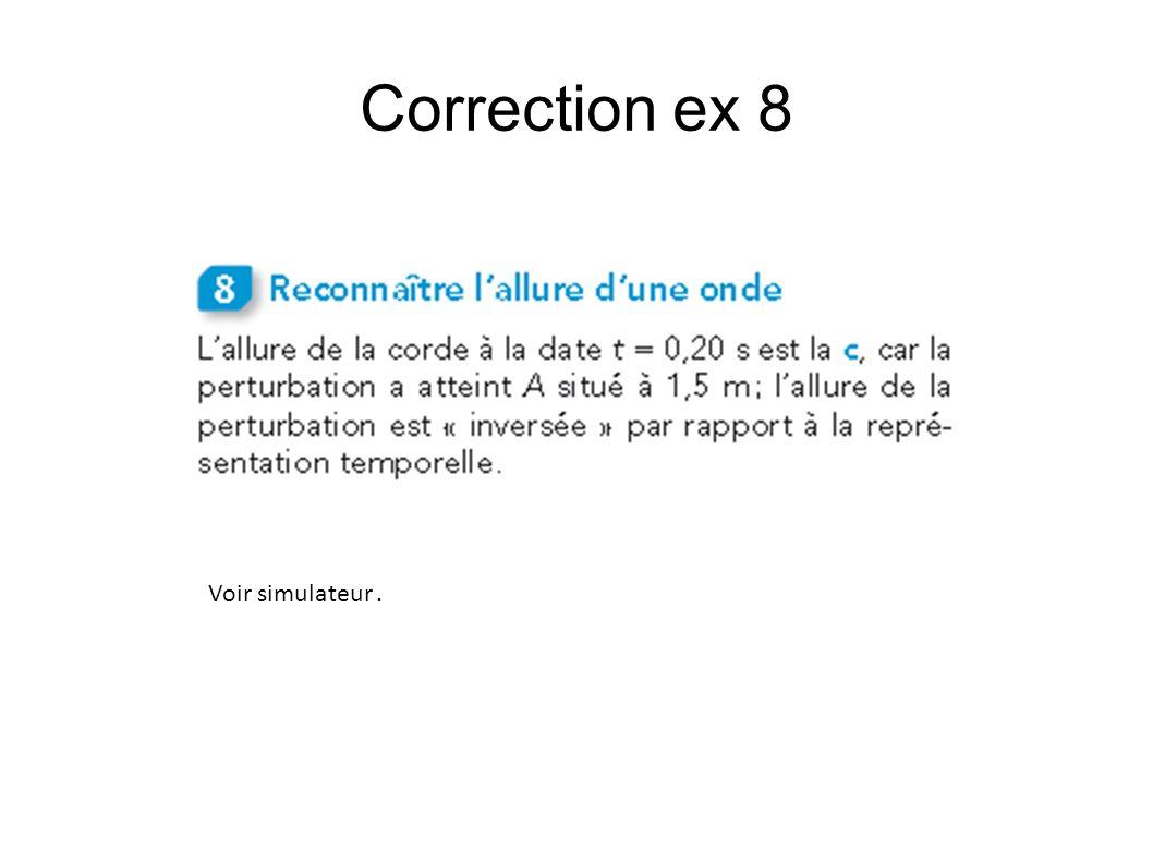 Correction ex 8 Voir simulateur .