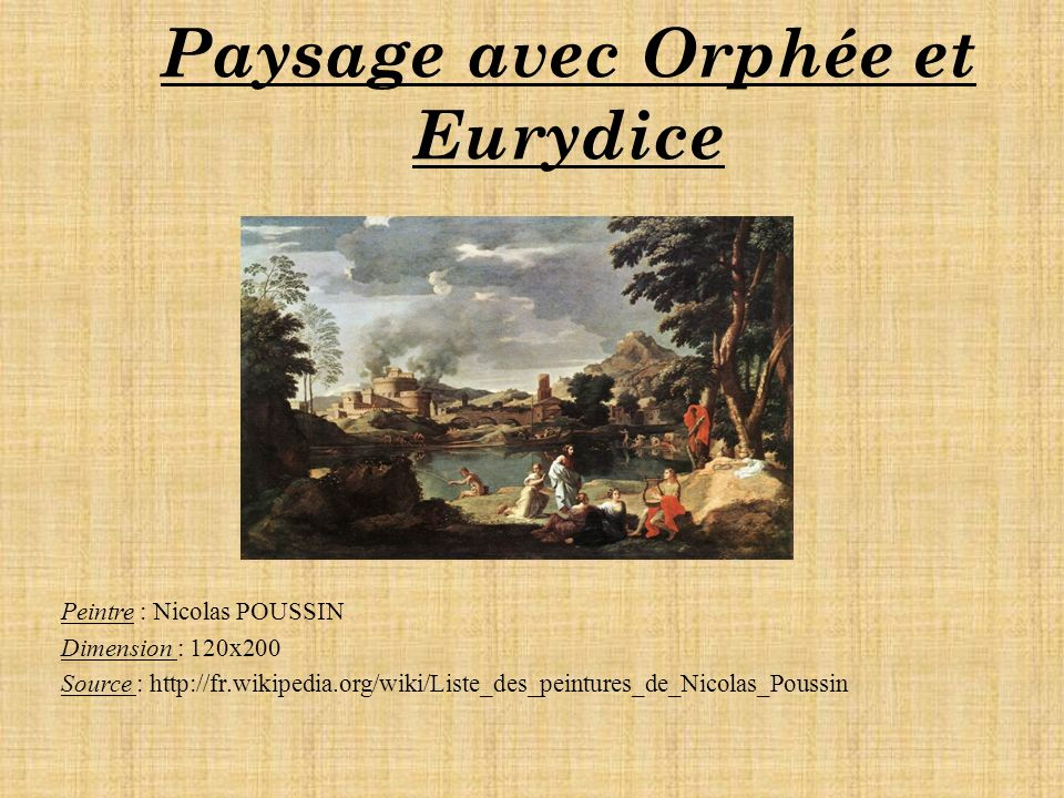 Paysage avec Orphée et Eurydice